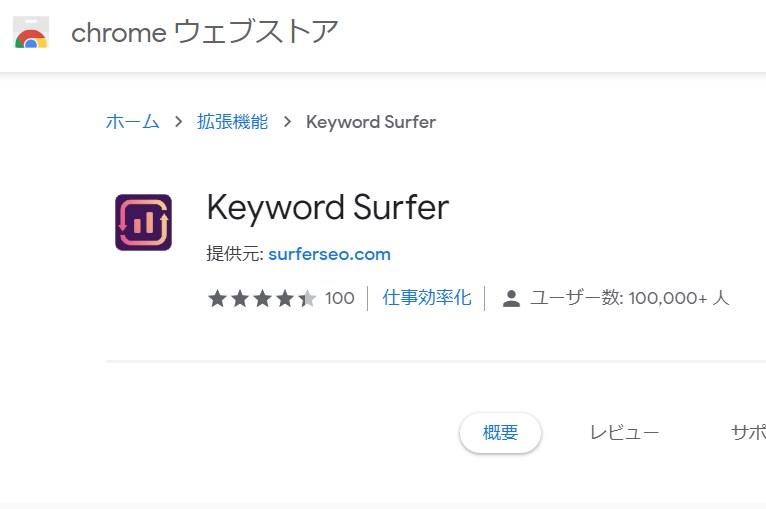Keyword Surfer キーワード